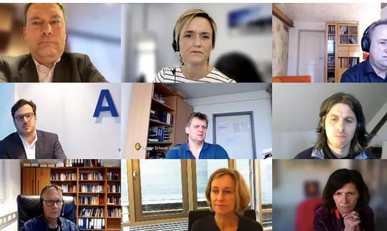 Videokonferenz mit den öffentlich-rechtlichen Medienanstalten
