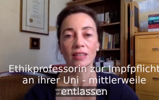 Ethikprofessorin zur Impfpflicht an ihrer Uni